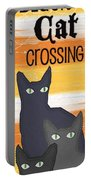 Black Cat Crossing Portable Battery Charger
