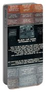 Black Cat Game Portable Battery Charger by Rob Hans