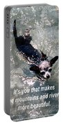 Black Chihuahua Dog Its You That Makes The Mountains And Rivers More Beautiful. Portable Battery Charger