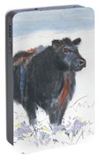 Black Cow Drawing Portable Battery Charger