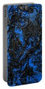 Black Cracks With Blue Portable Battery Charger
