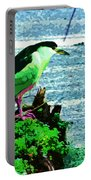 Black Crowned Green Night Heron Portable Battery Charger