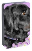 Black Dog Pretty In Lavender Portable Battery Charger