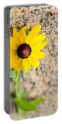 Black-eyed Susan Flower On A Gneiss Rock Portable Battery Charger