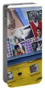 Black Family Reunion Mural Portable Battery Charger