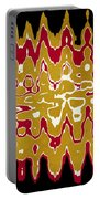 Black Gold Abstract Portable Battery Charger