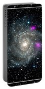 Black Holes In Spiral Galaxy Nasa Portable Battery Charger by Rose Santuci-Sofranko