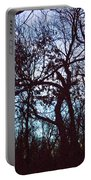 Black Ink Trees Twilight Portable Battery Charger