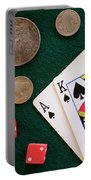 Black Jack And Silver Dollars Portable Battery Charger
