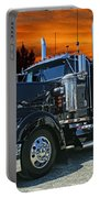 Black Kenworth Portable Battery Charger