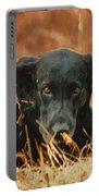 Black Labrador Portable Battery Charger