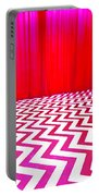 Black Lodge Magenta Portable Battery Charger