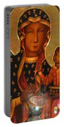 Black Madonna Of Czestochowa Portable Battery Charger