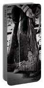 Black N White Chaps Portable Battery Charger