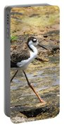Black Neck Stilt Chick Eats And Eats Portable Battery Charger