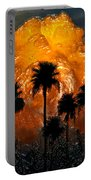 Black Palms At Dusk Portable Battery Charger