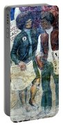 Black Panther Mural Berkeley Ca1977 Portable Battery Charger