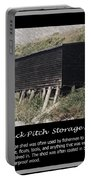 Black Pitch Storage Shed Portable Battery Charger