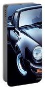 Black Porsche Turbo Portable Battery Charger