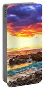 Black Sand Sunset Portable Battery Charger