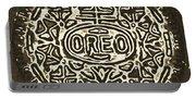 Black Sepia Oreo Portable Battery Charger