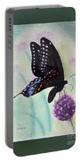 Black Swallowtail Butterfly By George Wood Portable Battery Charger