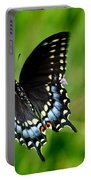 Black Swallowtail Butterfly In Garden Portable Battery Charger