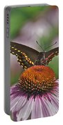 Black Swallowtail On Cone Flower Portable Battery Charger