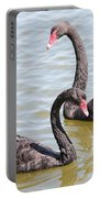 Black Swan Pair Portable Battery Charger