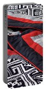 Black Thai Fabric 04 Portable Battery Charger