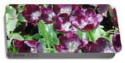 Black Tulips Portable Battery Charger