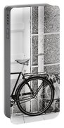 Black Vintage Bicycle Portable Battery Charger by Jimmy Karlsson