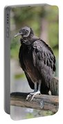 Black Vulture On The Boardwalk Portable Battery Charger