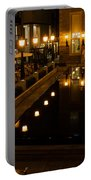 Black Water Golden Lights Portable Battery Charger
