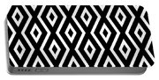 Black And White Pattern Portable Battery Charger