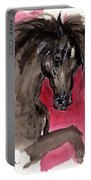 Black Wild Horse Portable Battery Charger