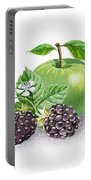 Blackberries And Green Apple Portable Battery Charger