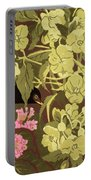Blackbird In The Hellebores Portable Battery Charger