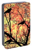 Blackbirds In A Tree Portable Battery Charger
