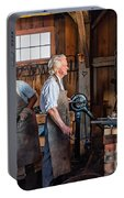Blacksmith And Apprentice 2 Portable Battery Charger