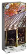 Blacksmith Shop In The Fall Portable Battery Charger