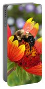 Blanket Flower And Bumblebee Portable Battery Charger