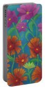 Blanket Flowers And Cosmos Portable Battery Charger