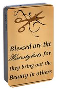Blessed Are The Hairstylists  Portable Battery Charger
