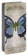 Bleu Papillon-a Portable Battery Charger