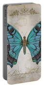 Bleu Papillon-c Portable Battery Charger