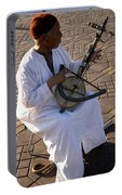 Blind Man Place Djemna Al Fna Marrakesh Morocco Portable Battery Charger