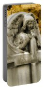Blissful Angel In Autumn Portable Battery Charger