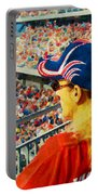 Blonde At The Ballgame Portable Battery Charger