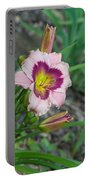Blood Throated Lily 1 Portable Battery Charger